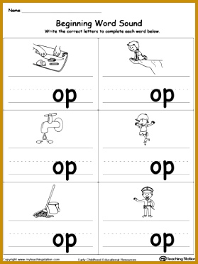 Op Word Family Worksheet Worksheets for all Download and Worksheets 372279