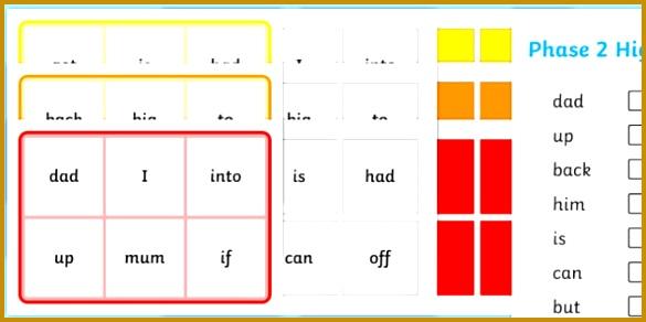 Phase 2 High Frequency Word Bingo Word Bingo Phase 2 Foundation bingo 292585