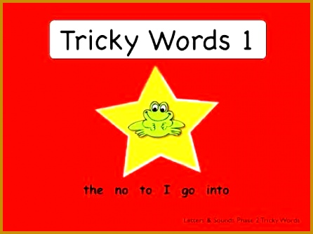 Tricky Words 1 from Smart Frog 334446