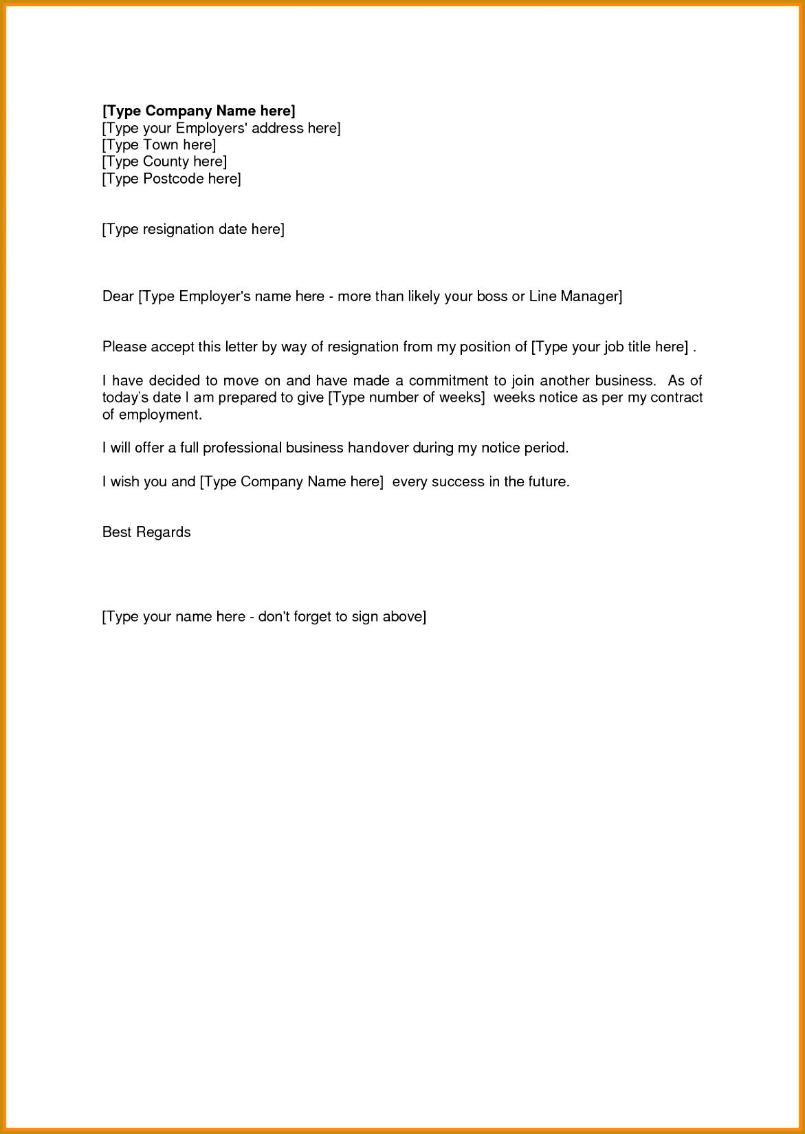 Sample Resignation Letter 2 Weeks Notice 4 Sample Resignation Letter 2 Weeks Notice Pdf 16491171