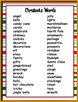 7 letter christmas words image result for pictionary christmas word 325249