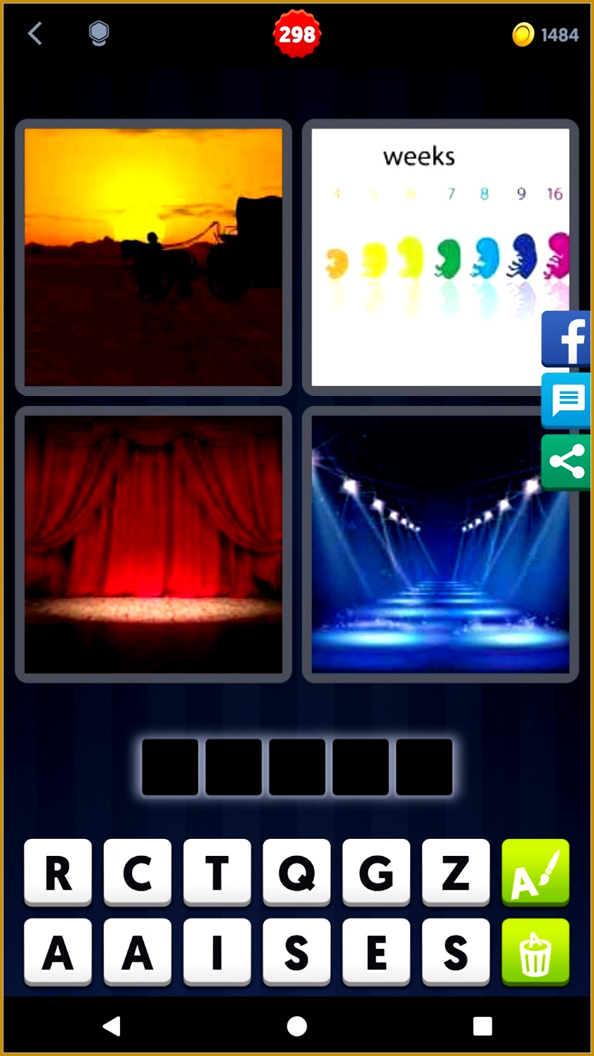 4 pictures one word 7 letters