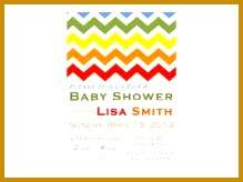 Rainbow Chevron Printable Baby Shower Invitation 164219