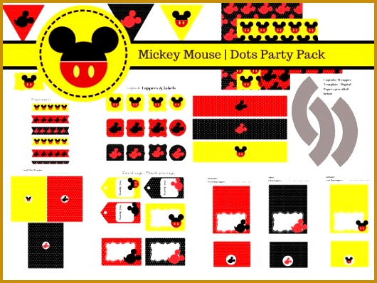 FREE Mickey Mouse Party Printables Baby Shower Ideas Themes Games 530398