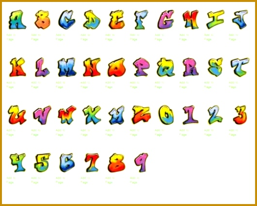 Create Names With Bubble Letters Letters A Z for Stickers Graffiti Alphabet 424530