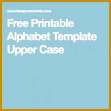 Free Printable Alphabet Template Upper Case 219219