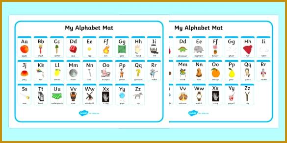 A Z Alphabet Mat Upper & Lowercase Alphabet Mat DfES Letters and Sounds 292585