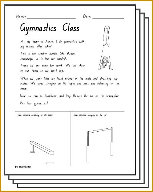Gymnastics Response Activity Sheets English skills online interactive activity lessons 627501