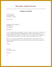 Business Letter Format 285219