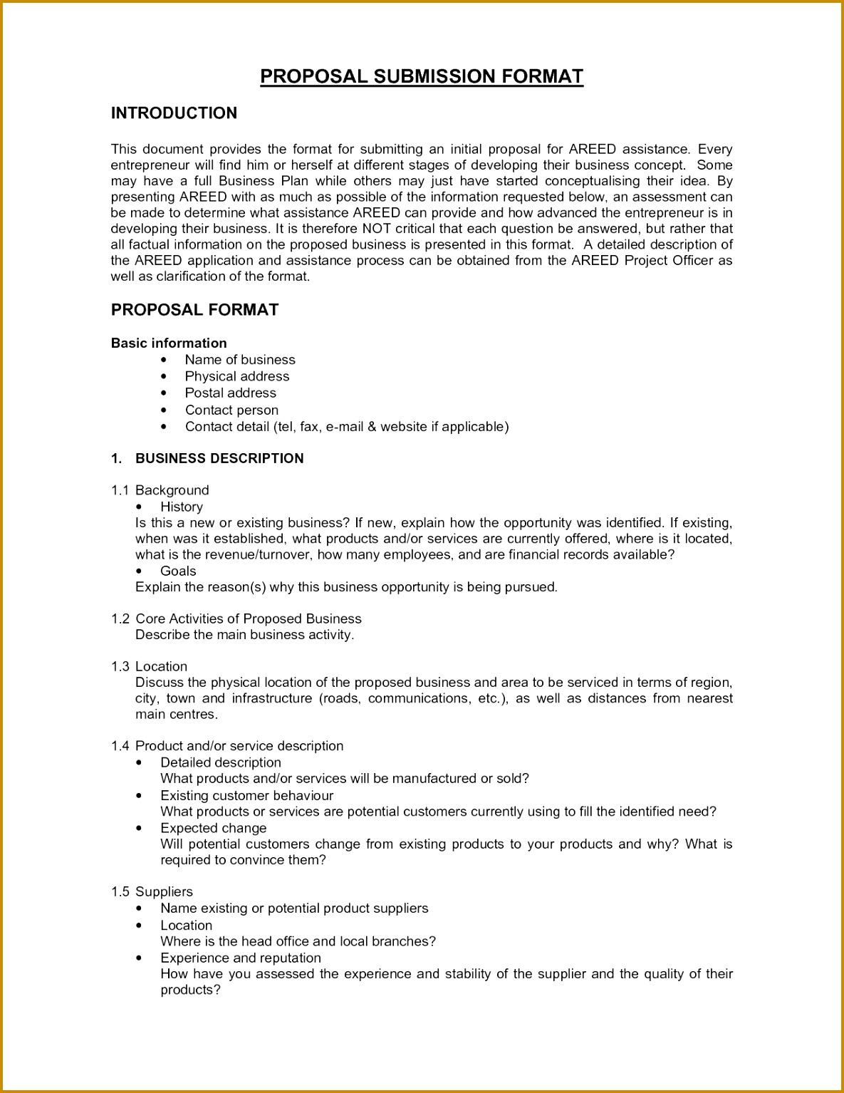 cover letter sample for proposal Sample Business Proposals Business Proposal Examples And Free 11851534