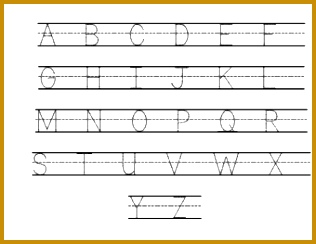 Sample Uppercase Alphabet 316244