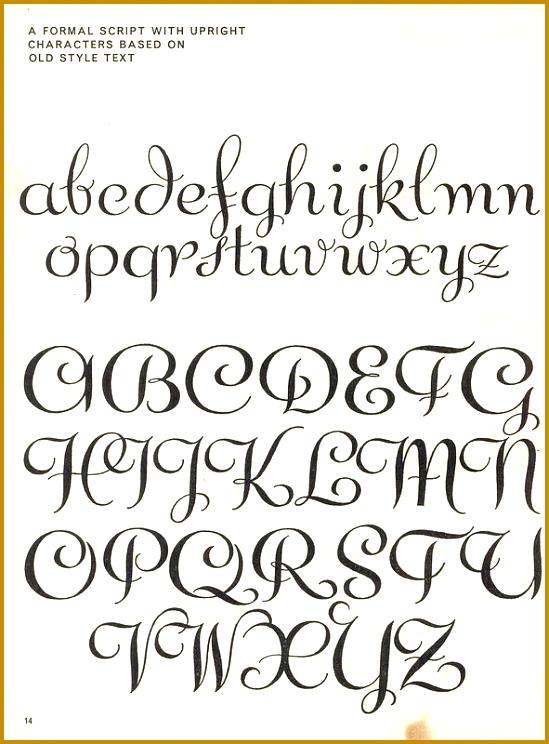 vintage script alphabet Script Lettering 1957 M Meijer a formal 744549