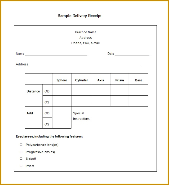 Car Payment Receipt Sample Inspirational Car Sale Invoice Template Word From Delivery Receipt Form Receipt Stock 594544