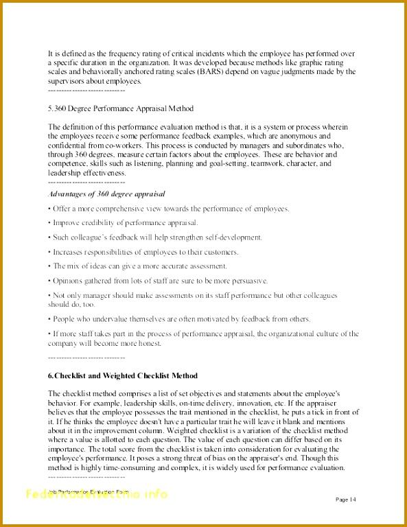 4 Employee Appraisal Report Template 04377 | FabTemplatez
