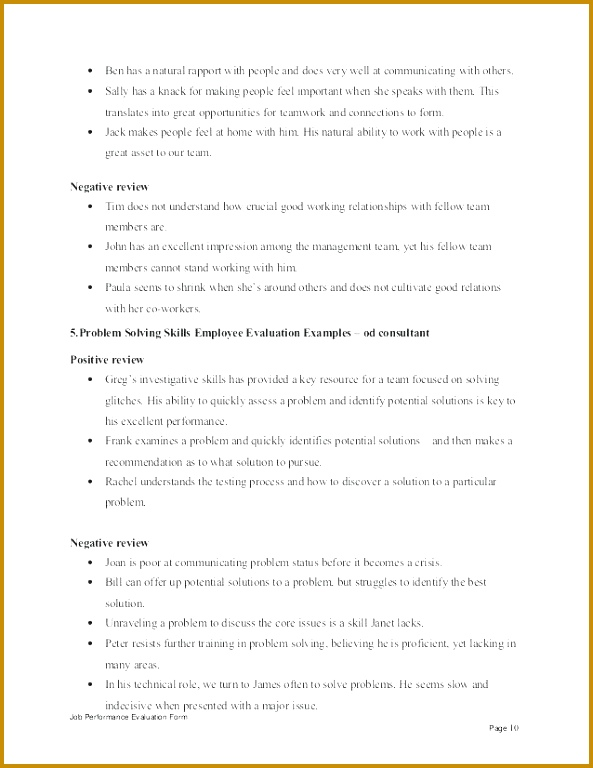 employee self evaluation form template best of consultant performance appraisal work examples review beauti 768593