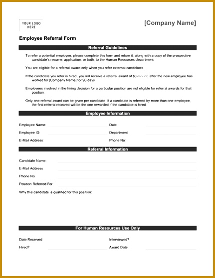 employee referral form template 431558