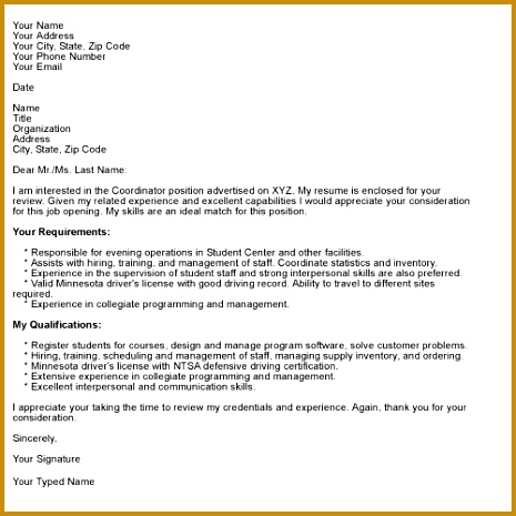 How to pose a Job Winning Cover Letter Letter Format SampleCover 465465