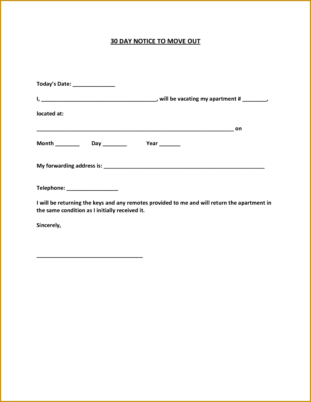 30 day move out notice template 15341185