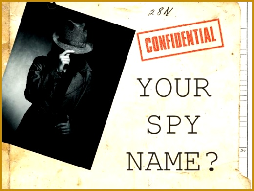 What Is Your Spy Name 390520