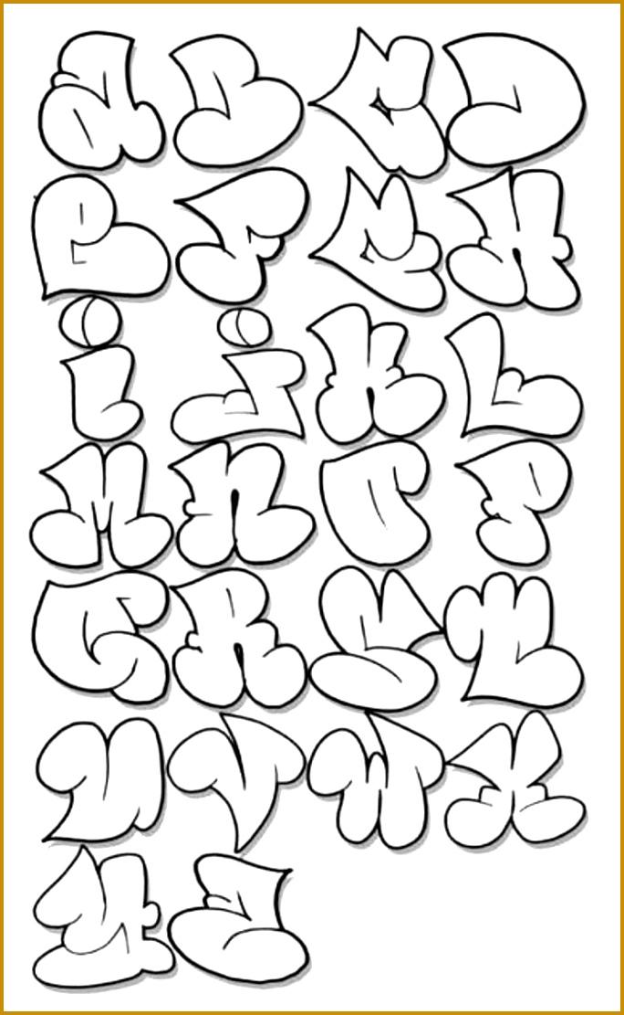 Graffiti 3D Alphabet A Z Alfabeto Graffiti Throw Up 1111684
