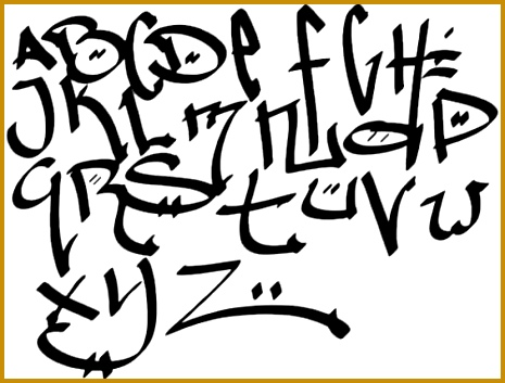 Sketch Graffiti Alphabet Letters A Z With Calligraphy Design A 353465
