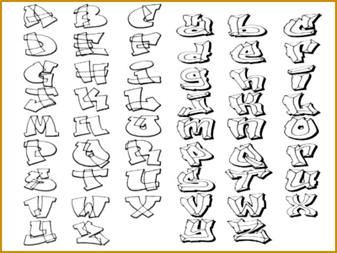 How to Draw Graffiti Letters A Z 684513