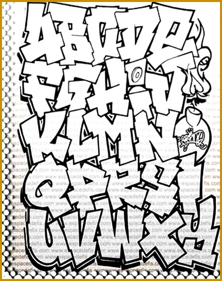"Sketch Alphabet Graffiti ""Black and White"" on Paper Alphabet Graffiti a graffiti art which utilizes character alphabet to serve as a graff 558440"
