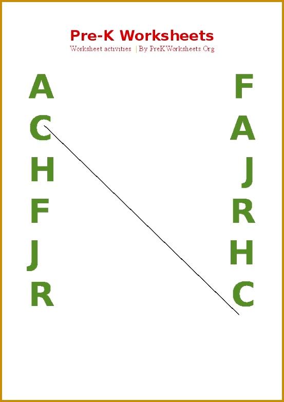 Preschool Alphabet Matching Activities PDF 553783