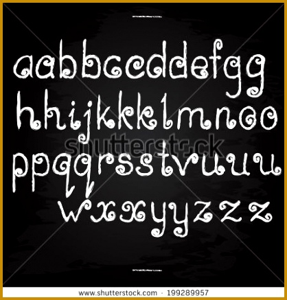 Hand written letters English alphabet Chalk design Vector illustration eps10 437418