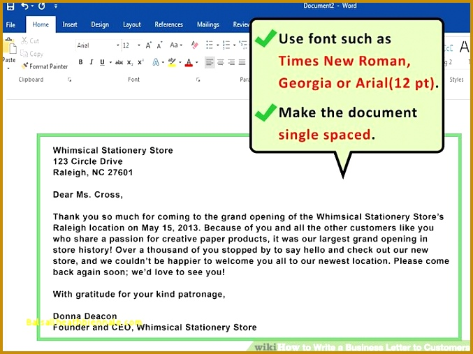 How to Write A Letter the puter Unique How to Write A Business Letter to 507677