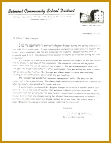 letter of re mendation for a teacher Google Search 283219