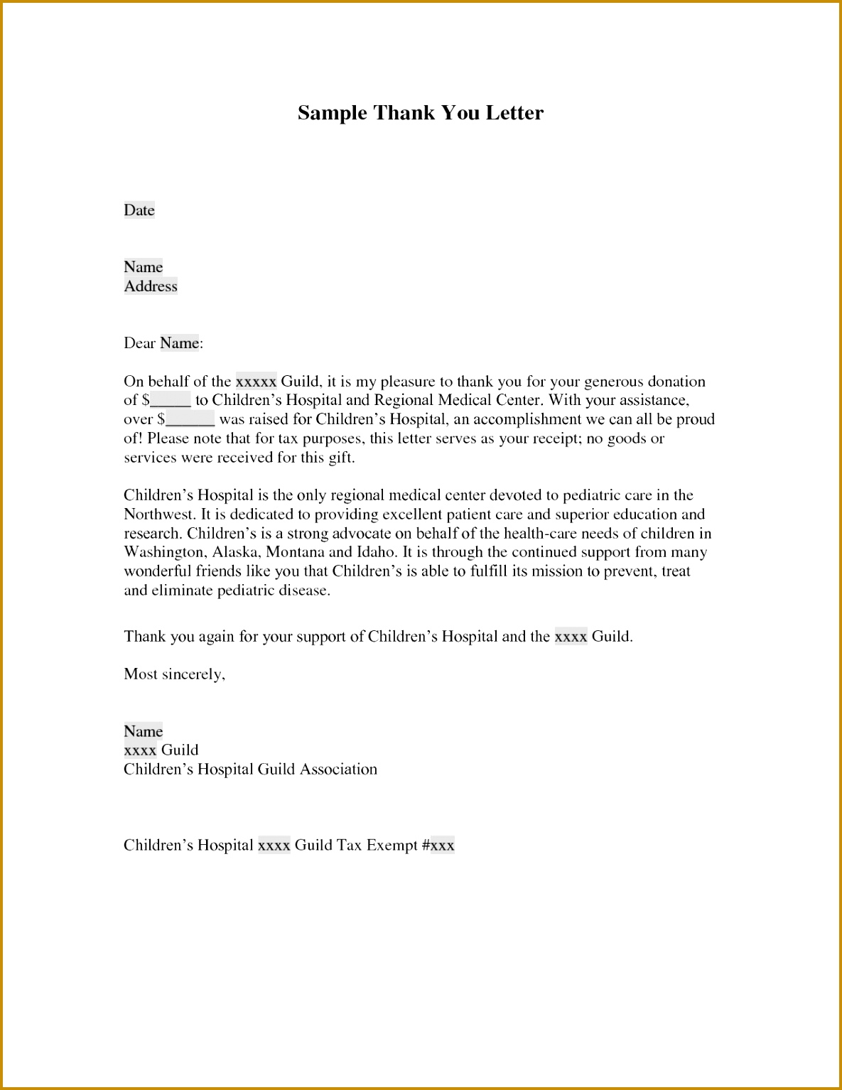Thank You Letter New Sample Thank You Letter for Donation to School Pdf format 15341185