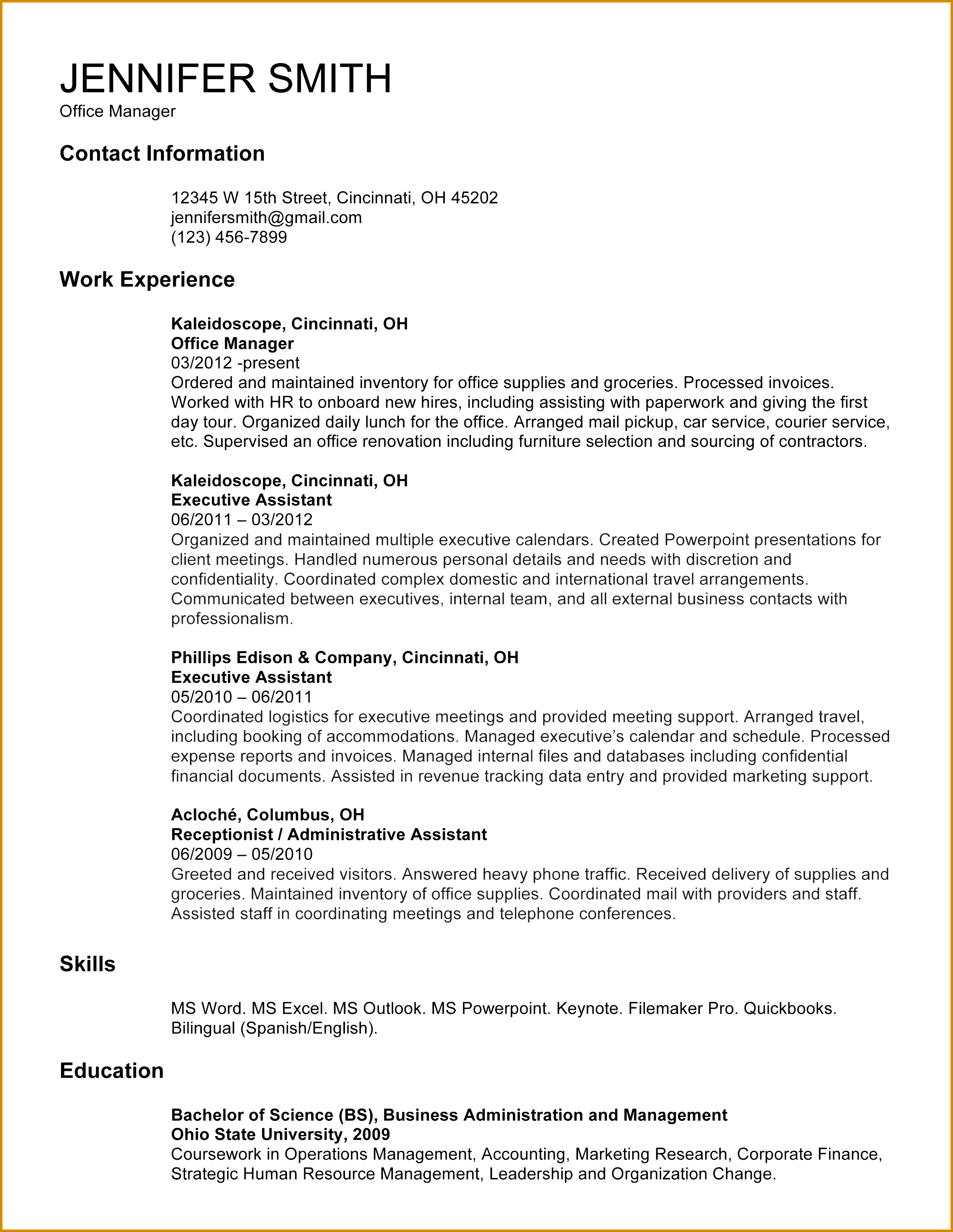 Examples Cover Letter for Resume Beautiful Administrative assistant Resume Template Od Specialist Cover Letter 30822384