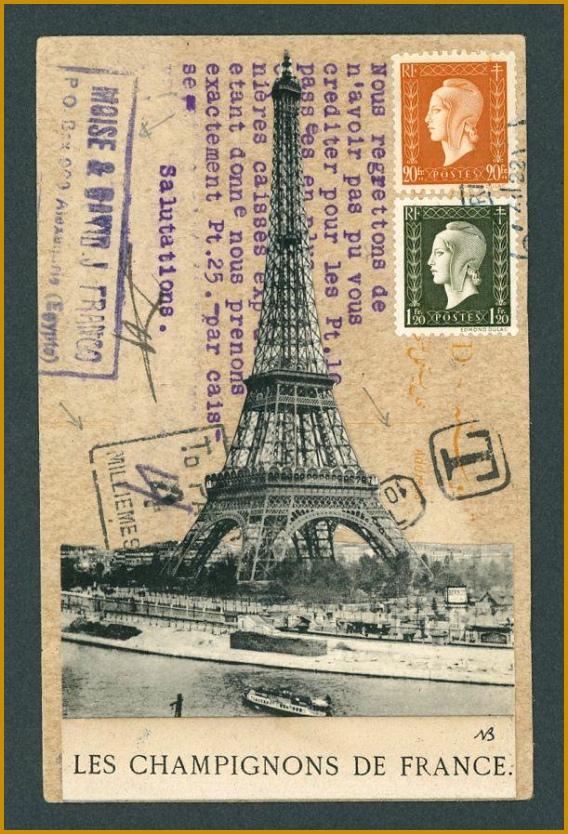Original Mail Art Paris and Egypt by Nick Bantock 834568