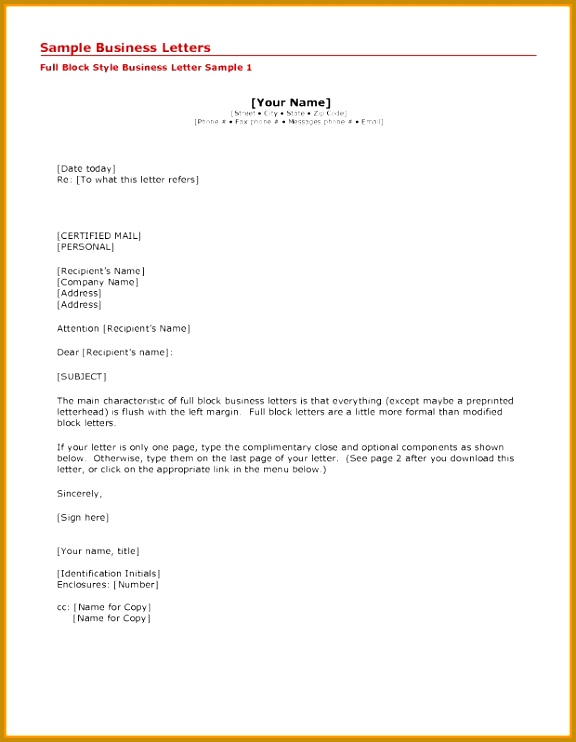 Cc letter format original portray business writing a template in 5 742576