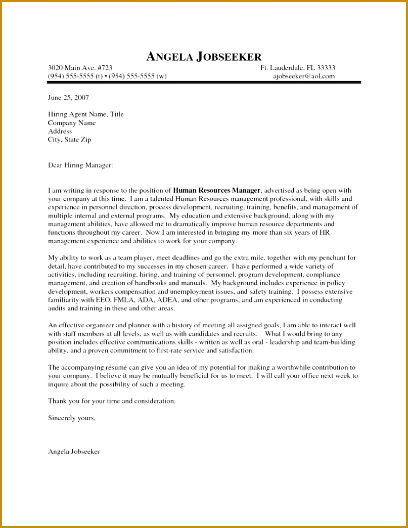 How To Write A Cover Letter And Resume Outstanding Examples Hr Manager Killer For An Internshipod 8071044