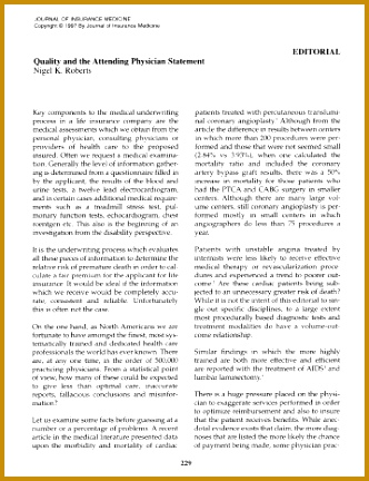 Editorial Quality and the Attending Physician Statement 432332