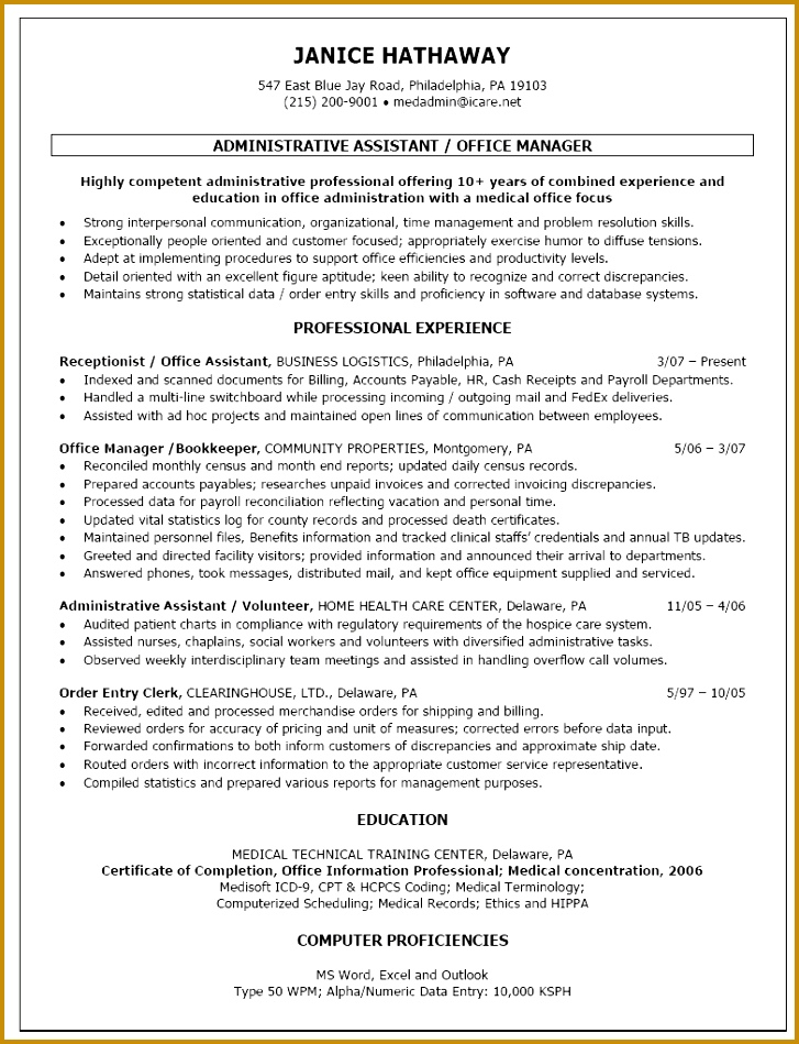 Sample fice Manager Resume Awesome Medical Fice Manager Resume Examples Examples Resumes 949727