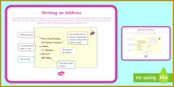 Writing an Address Display Poster display poster address writing creative writing 292585