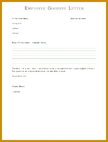 Employee Goodbye Letter Sample employee farewell message to send via email when leaving employment 219287