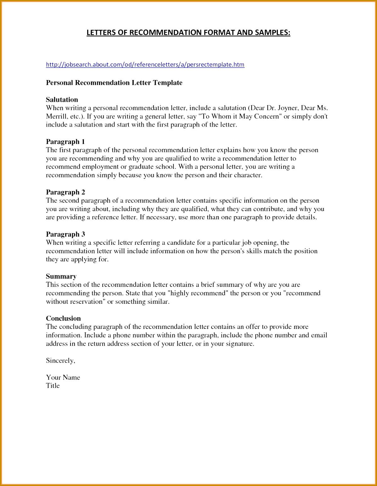 Re mendation Letter for A Nursing Job 15471198