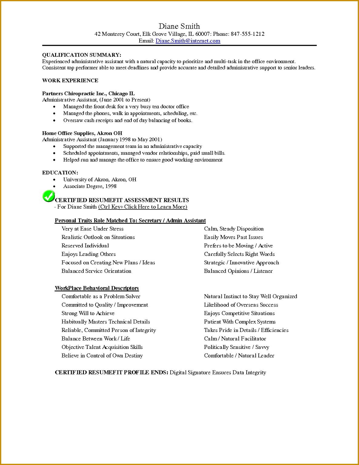 20 Resume for Work Example 11851534