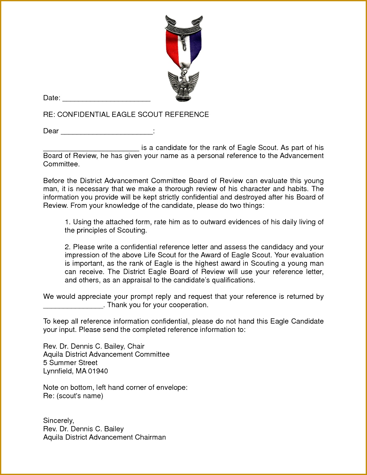 eagle scout re mendation reference letter 15341185