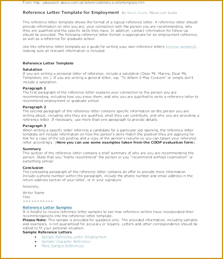 Personal Re mendation Letter Template Best Re Mendation Letter Template From Employer Baskanai 995854