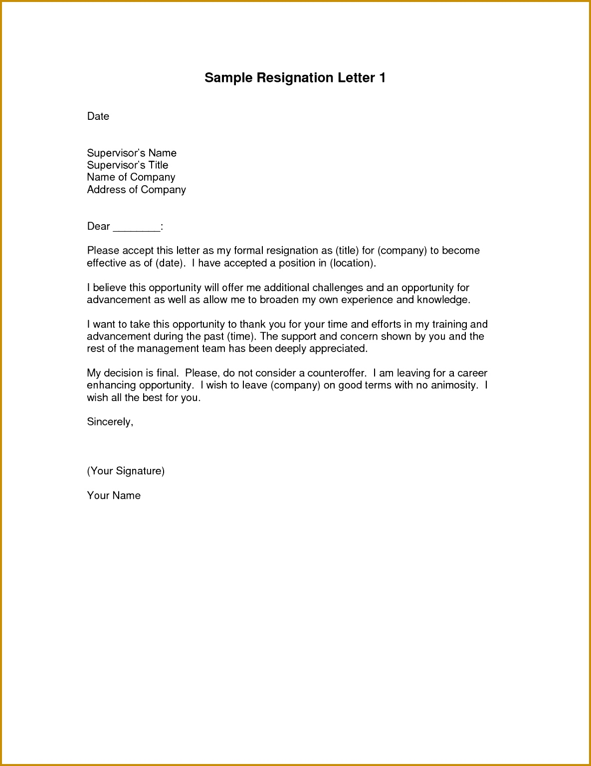 Two Week Resignation Letter Templates Elegant Two Week Resignation Letter Sample Resignation Letter format Email 15341185