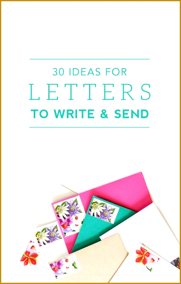 30 Ideas for Letters to Write and Send 595930