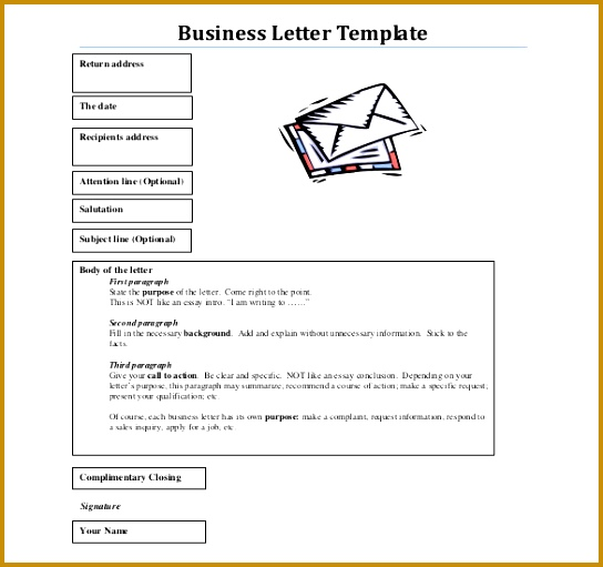 Optional Parts A Business Letter And Their Meaning Best 511544