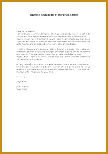 Sample Character Reference Letter Dear Sir or Madam I am writing to re mend [Name 310219