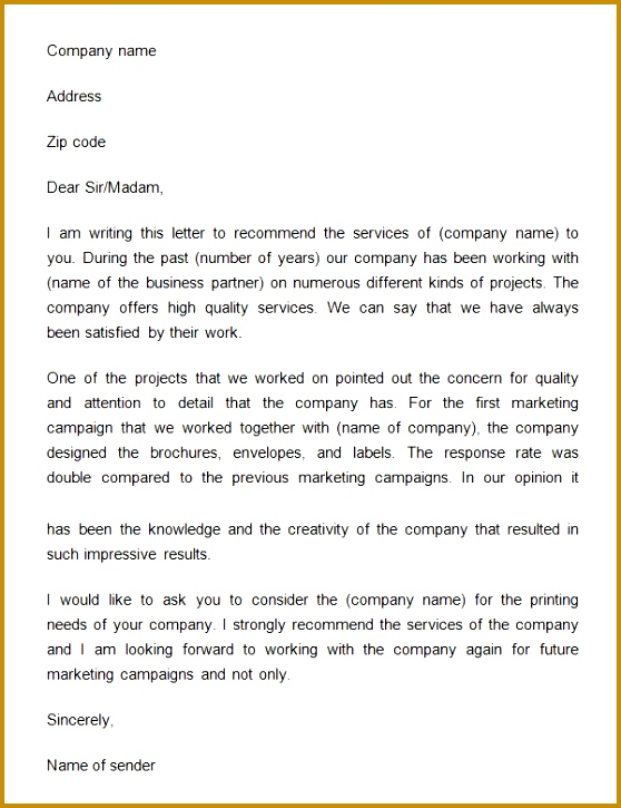 Business Reference Letter Download Free Documents Pdf Word Sample 725558