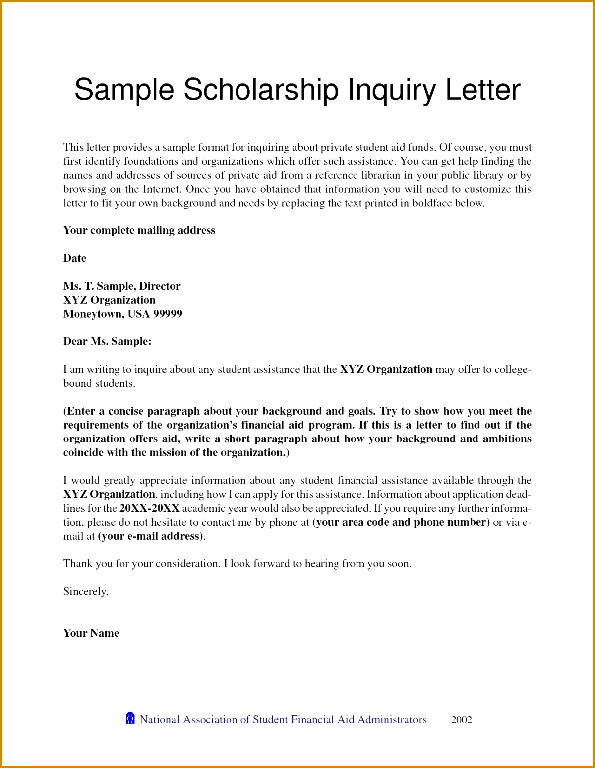 Letter Re mendation for College Scholarship Pdf format 15431195